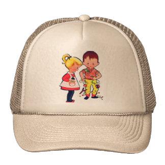 Retro Vintage Kitsch Cute Kids Sugar & Spice Trucker Hat
