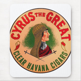 Retro Vintage Kitsch Cyrus The Great Cigar Label Mouse Pad
