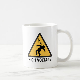 Retro Vintage Kitsch Danger High Voltage Sign Coffee Mug