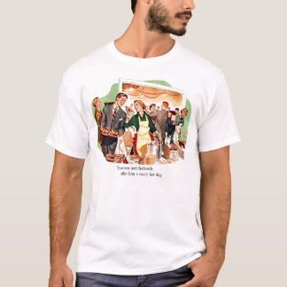 Retro Vintage Kitsch Dating 'Offer Him a Hot Dog' T-Shirt