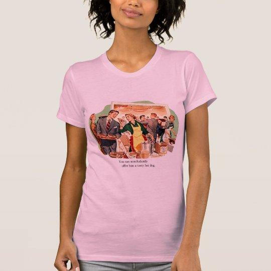 Retro Vintage Kitsch Dating 'Offer Him a Hot Dog' T-Shirt