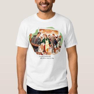 Retro Vintage Kitsch Dating 'Offer Him a Hot Dog' Tee Shirt