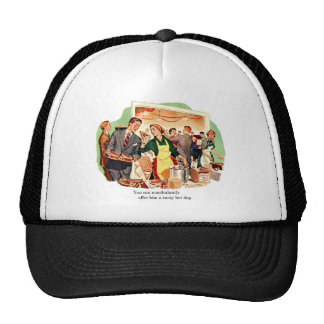 Retro Vintage Kitsch Dating 'Offer Him a Hot Dog' Trucker Hat