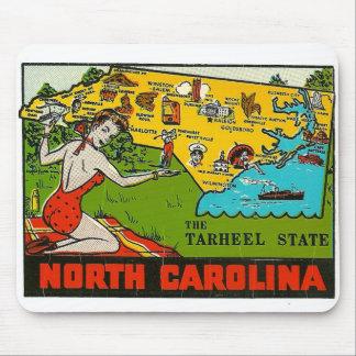 Retro Vintage Kitsch Decal North Carolina Pin Up Mouse Pad