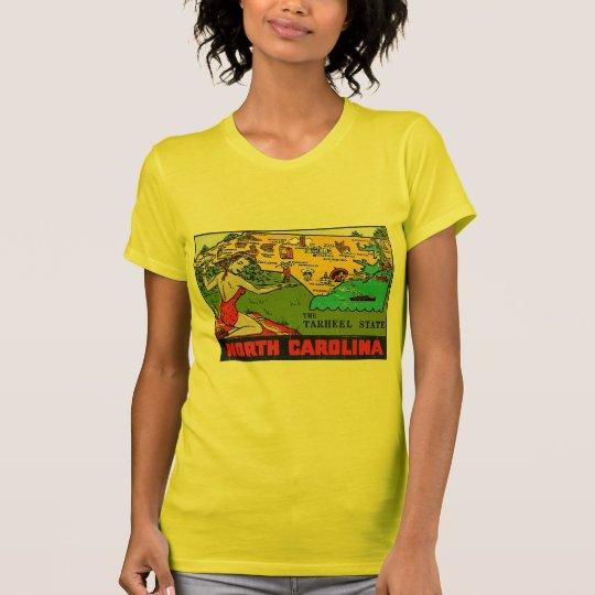 Retro Vintage Kitsch Decal North Carolina Pin Up T-Shirt