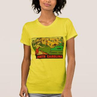 Retro Vintage Kitsch Decal North Carolina Pin Up T-shirts