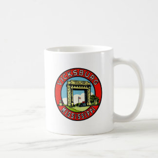 Retro Vintage Kitsch Decal Vicksburg Mississippi Coffee Mug