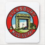 Retro Vintage Kitsch Decal Vicksburg Mississippi Mouse Pad