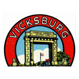 Retro Vintage Kitsch Decal Vicksburg Mississippi Postcard