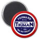 Retro Vintage Kitsch Democrats Forward With Truman 2 Inch Round Magnet