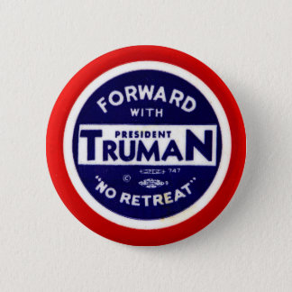 Retro Vintage Kitsch Democrats Forward With Truman Button