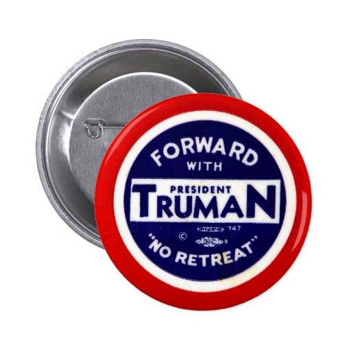 Retro Vintage Kitsch Democrats Forward With Truman Pinback Button