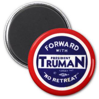 Retro Vintage Kitsch Democrats Forward With Truman Fridge Magnets