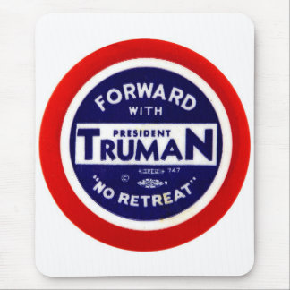 Retro Vintage Kitsch Democrats Forward With Truman Mouse Pad