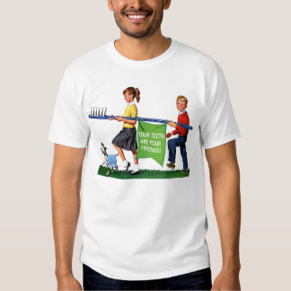 Retro Vintage Kitsch Dentist Kids Giant Toothbrush Shirt
