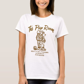 Retro Vintage Kitsch Diner 'The Pup Room' T-Shirt