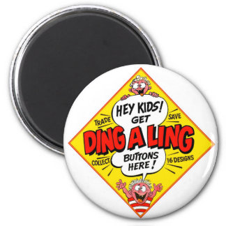 Retro Vintage Kitsch Ding-a-Ling Butons 2 Inch Round Magnet
