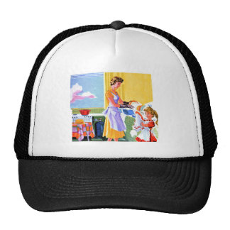 Retro Vintage Kitsch Doing Dishes With Mom Trucker Hat