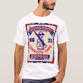 Retro Vintage Kitsch Doughboy Mammoth Caps T-Shirt