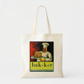 Retro Vintage Kitsch Dutch Alphabet bak-ker Baker Tote Bag