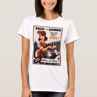 Retro Vintage Kitsch Each Little Error War Poster T-Shirt