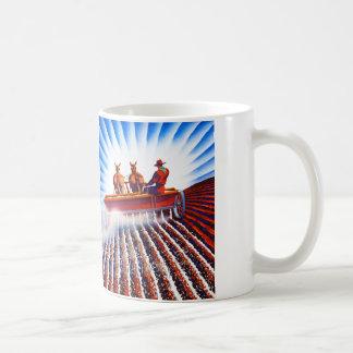 Retro Vintage Kitsch Farmer Fertilizer Poster Art Coffee Mug
