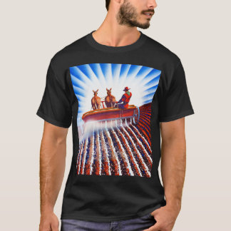 Retro Vintage Kitsch Farmer Fertilizer Poster Art T-Shirt