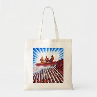 Retro Vintage Kitsch Farmer Fertilizer Poster Art Tote Bag