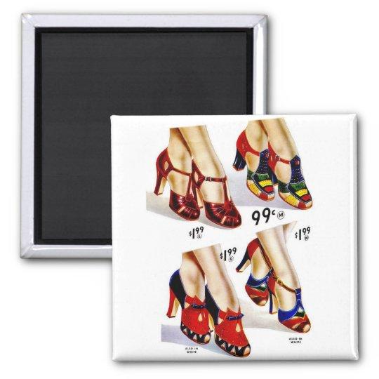 Retro Vintage Kitsch Fashion 40s Women's Shoes Magnet