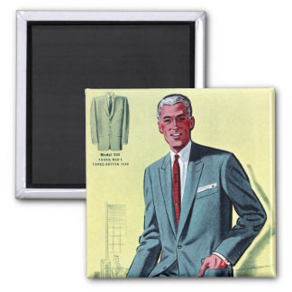 Retro Vintage Kitsch Fashion Men's Suit Magnet
