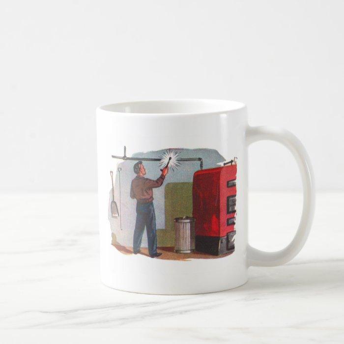 Retro Vintage Kitsch Fifties Homerepair DIY Guy Coffee Mug