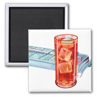 Retro Vintage Kitsch Fifties Ice Cube Tray Cubes Magnet