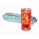 Retro Vintage Kitsch Fifties Ice Cube Tray Cubes Post Card