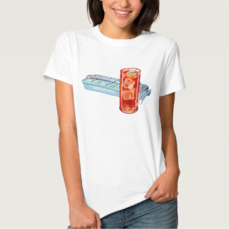 Retro Vintage Kitsch Fifties Ice Cube Tray Cubes T-Shirt