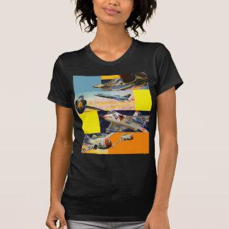 Retro Vintage Kitsch Fighter Jets Illustrations Tshirts