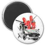 Retro Vintage Kitsch Fighting Frankurters Hot Dogs Fridge Magnets