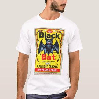 Retro Vintage Kitsch Firecracker Black Bat Brand T-Shirt