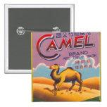 Retro Vintage Kitsch Firecracker Label Camel 2 Inch Square Button