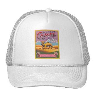 Retro Vintage Kitsch Firecracker Label Camel Trucker Hat