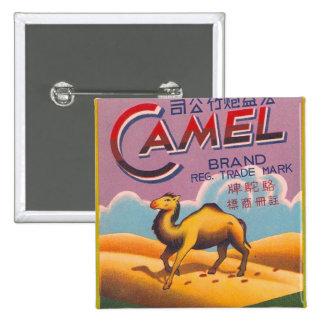Retro Vintage Kitsch Firecracker Label Camel Pinback Button