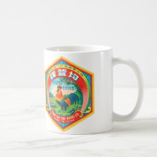 Retro Vintage Kitsch Firecracker Label Rooster Coffee Mug