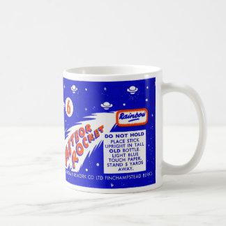 Retro Vintage Kitsch Firework Meteor Rocket Coffee Mug