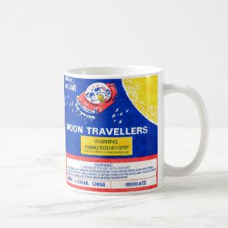 Retro Vintage Kitsch Firework Rocket Moon Traveler Coffee Mug