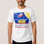 Retro Vintage Kitsch Firework Rocket Moon Traveler T-shirt