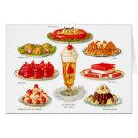 Retro Vintage Kitsch Food 30s Gelatin Desert Art Greeting Cards