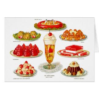 Retro Vintage Kitsch Food 30s Gelatin Desert Art Card