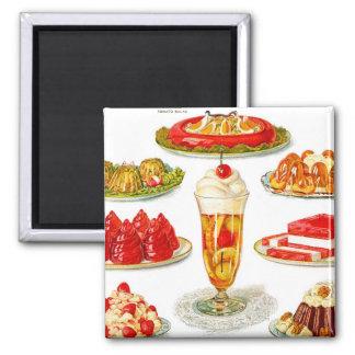 Retro Vintage Kitsch Food 30s Gelatin Desert Art Magnet