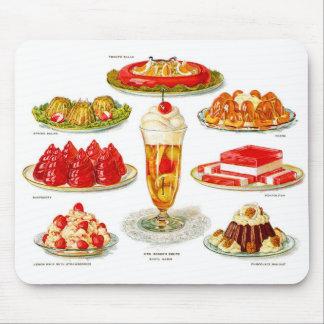 Retro Vintage Kitsch Food 30s Gelatin Desert Art Mouse Pad