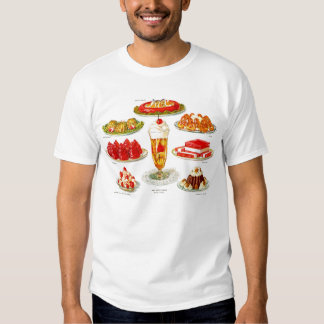 Retro Vintage Kitsch Food 30s Gelatin Desert Art Tee Shirt