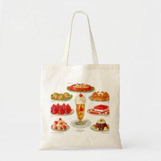 Retro Vintage Kitsch Food 30s Gelatin Desert Art Tote Bag